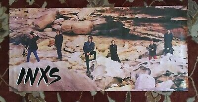 INXS  Listen Like Thieves  Rare Original Promotional Poster  MICHAEL HUTCHENCE • 18.51£