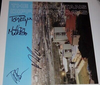 The Charlatans Different Days Fully Signed 12  Promo Poster & Digipak Album • 24.99£