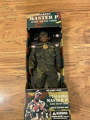 NO LIMIT TOYS MASTER P TALKING FIGURE Very Rare Working Vintage 90s Rapper Hat • 275£