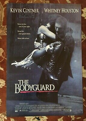WHITNEY HOUSTON  The Bodyguard  Original Movie Poster From 1992  KEVIN COSTNER • 11.58£