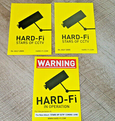 3 X Hard-Fi Promo Stickers Stars Of CCTV  2005 • 3.99£