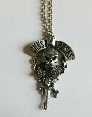 Vintage Guns N Roses 1994 Metal Pendant Necklace Brockume • 13.54£