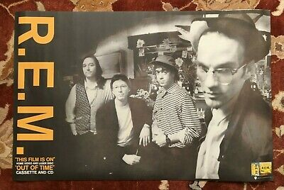 R.E.M.  Out Of Time Video  Rare Original Promotional Poster From 1991  REM • 11.90£