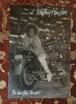 WHITNEY HOUSTON  I'm Your Baby Tonight  Rare Original Promotional Poster • 11.58£