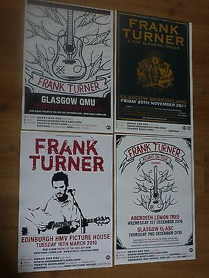 Frank Turner - Collection Of Scottish Tour Live Show Concert Gig Posters X 4 • 13.49£