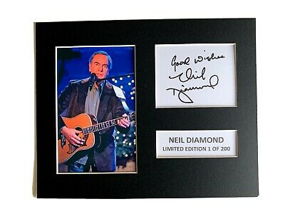 Limited Edition Neil Diamond Signed Mount  Music Preprint Display • 5.99£