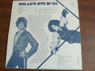 T-REX / BOLAN, Bolan's Jive In 85, German Vinyl Album (blue Vinyl) • 39£