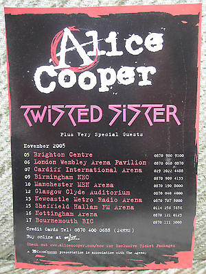 Alice Cooper / Twisted Sister - Uk Tour Flyer / Poster 2005 • 0.99£