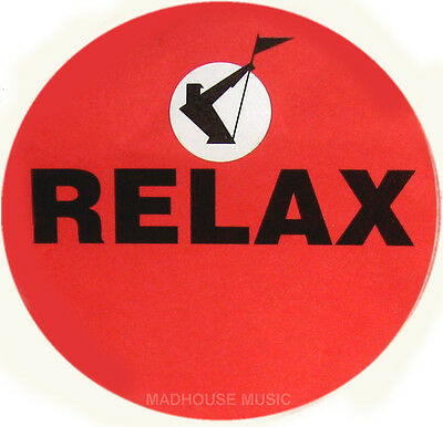 FRANKIE GOES TO HOLLYWOOD Relax STICKER UK PROMO ONLY 9cm Radius (3.5 ) UNUSUED • 4.95£