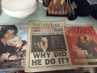 INXS Michael Hutchence Magazine Articles Newspapers Full Issues Vintage Collect • 39.69£