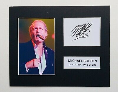 Limited Edition Michael Bolton Signed Mount TV Film Music  Preprint Display • 5.99£