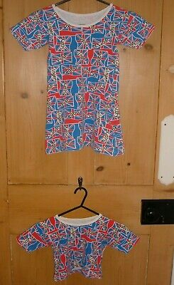 SPICE GIRLS T-SHIRT DRESS & CROP TOP AGE 8-9 STRETCH  Vintage Rare Made In UK  • 8.99£