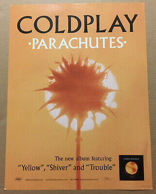 COLDPLAY Ultra Rare 2000 PROMO POSTER Of Parachutes CD USA 18x24 NEVER DISPLAYED • 47.88£