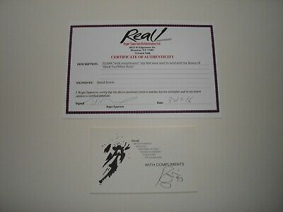 David Bowie - 1993 Autographed Isolar Compliments Card (USA) With Epperson COA • 479.99£