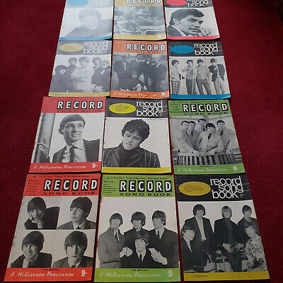 Job Lot 1960s Record Song Books The Beatles Kinks Animals Rolling Stones Etc   • 3.45£