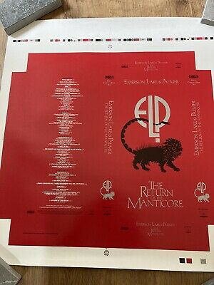 Emerson Lake And Palmer Proof Artwork For 'Return Of The Manticore' Box Set • 15£