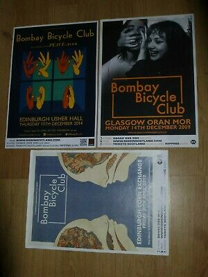 Bombay Bicycle Club - Collection Of Scottish Tour Show Concert Gig Posters X 3 • 12.99£