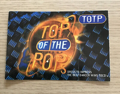 Top Of The Pops Original Ticket For Admission To BBC Television Centre. • 2£