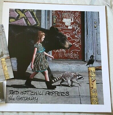 """Red Hot Chili Peppers The Getaway 24"""" X 24"""" Lithograph With Extended Album Art • 29.97£"""