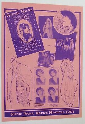 Stevie Nicks Book Promo Poster 1995 - Limited Edition RARE Fleetwood Mac • 13.57£