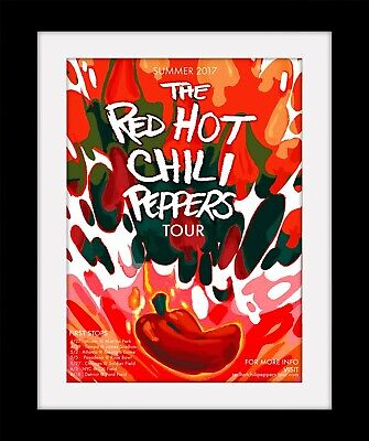 RED HOT CHILI PEPPERS Tour Classic Print Mounted Or Framed FREE POSTAGE Ref105 • 9.99£