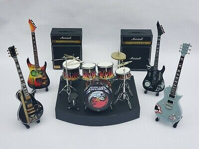 Complete Set METALLICA Miniature Drum Set With Guitars And Amps. Mini Drum Set • 104.32£