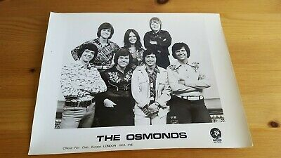 The Osmonds Official Fan Club Photograph C. 1973 - MGM Records • 9.99£