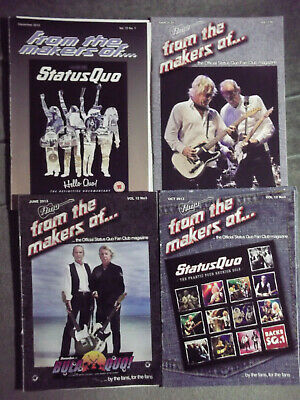 Status Quo Ftmo Fan Club Magazine Vol 12 - Issues. 1,2,3,4  - 2012/13 • 9.99£