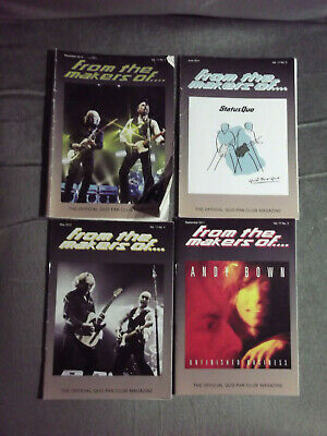 Status Quo Ftmo Fan Club Magazine Vol 11 - Issues. 1,2,3,4  - 2010/ 2012 • 4.99£