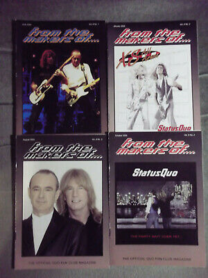 Status Quo Ftmo Fan Club Magazine Vol 8 - Issues. 1,2,3,4  - 2004/ 2005 • 9.99£