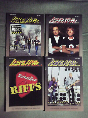 Status Quo Ftmo Fan Club Magazine Vol 7 - Issues. 1,2,3,4  - 2002/2003 • 9.99£