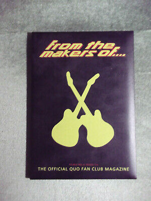 Status Quo Ftmo Fan Club Magazine Vol 4 - Issues. 1,2,3,4 + Case - 1998/99 • 9.99£