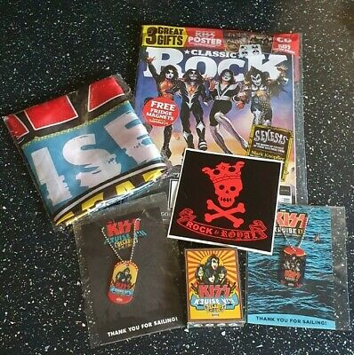 KISS Kruise Memorabilia Bundle & Sainsburys UK Exclusive Classic Rock Magazine • 89.99£