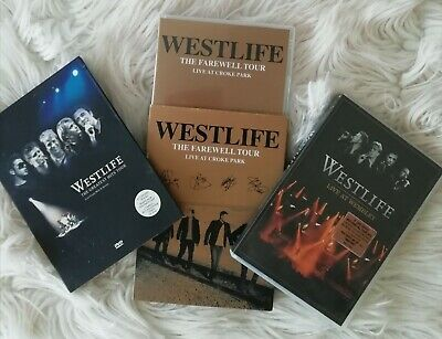 Westlife DVD Bundle. 1. Live At Wembley. 2. Greatest Hits. 3. Farewell Tour.  • 2.50£