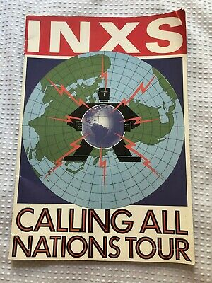 Inxs Michael Hutchence  Calling All Nations Tour Concert Program 1988 • 16.18£
