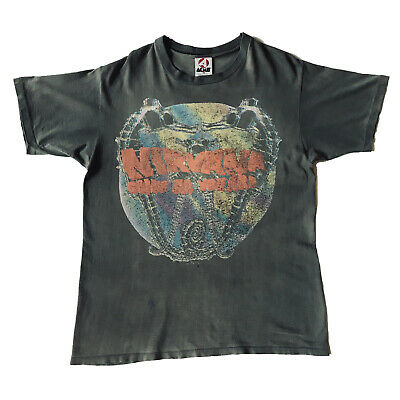 1992 Nirvana 'come As You Are' T-shirt • Vintage Vtg • 535£