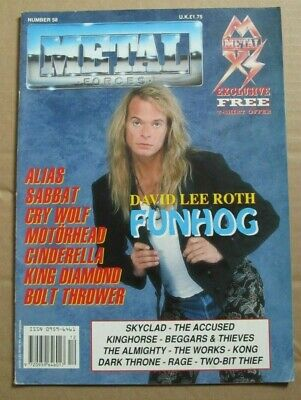 Metal Forces Music Magazine. Number 58. David Lee Roth - Funhog. • 5.99£
