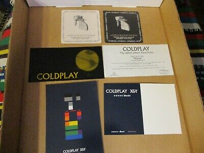 Older COLDPLAY US Promo Postcard, Beer Mat & Sticker Lot • 5.88£