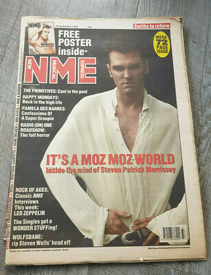 NME Morrissey 1989 Full Paper Smiths To Reform • 4.99£