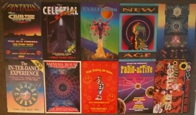 Job Lot Of 71 Hardcore Rave Flyers From Early 1990's - Good Selection - Look :) • 5.50£