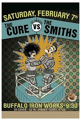 The Cure  Vs. The Smiths At Buffalo Iron Works Concert Poster  12x18 • 9.01£