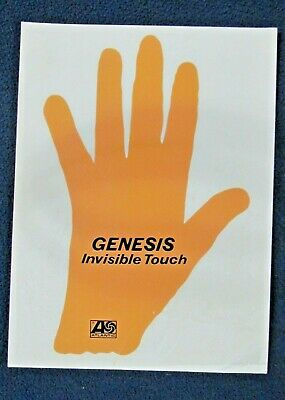 GENESIS Invisible Touch Atlantic 1986 Promotional Window Cling 7.5 X 5.5 • 13.51£