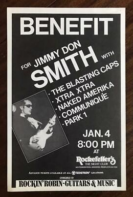 JIMMY DON SMITH Cold Cuts Benefit Show Flyer Rockefeller's Houston Blasting Caps • 5.92£