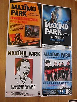 Maximo Park - Collection Of Scottish Tour Live Show Concert Gig Posters X 4 • 12.99£