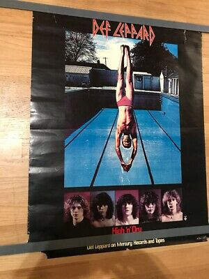 DEF LEPPARD High And Dry Promo Poster • 10.30£