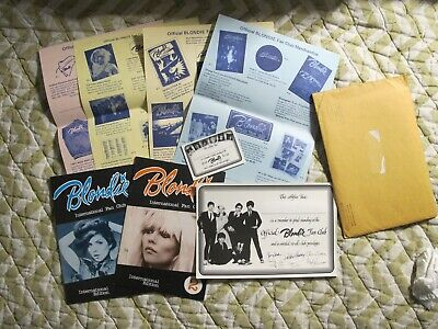 Blondie 1981 Orig Fan Club Packet With Fan Mags Photos Merch Sheets Etc Cool! • 14.30£