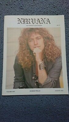 Nirvana - The Robert Plant Fanzine Vol. 1 Number 12 -  August 1991 • 12.50£
