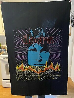 Vintage 2000 The Doors Wall Hanging Tapestry Wall Art • 10.97£