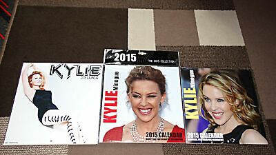KYLIE Minogue 3 X 2015 CALENDARS Sealed NEW Unused • 20.99£
