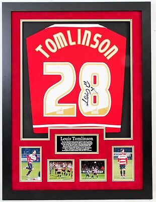 Louis Tomlinson One Direction Signed And Framed Doncaster Rovers Shirt • 395£